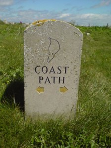Portland stone marker for the SWCP